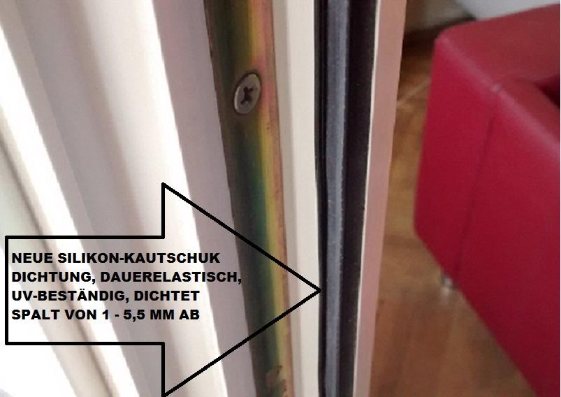 Neue SK Dichtung in alte KU Fenster